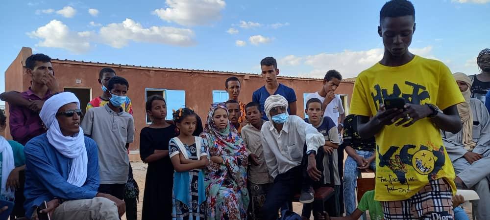 """طاقم """"مسابقة الفصاحة-موريتانيا"""" ينهي جولته الداخلية في مخيم أمْبرّة"""